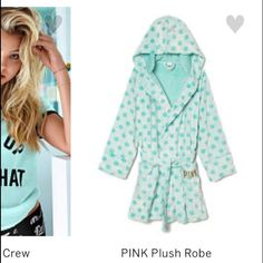 Sold out VS pink robe blue Sold out M/L Victoria's secret pink robe!! Super soft. Also has a hood! PINK Victoria's Secret Intimates & Sleepwear Robes