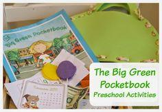The Big Green Pocketbook Preschool Activities- math, literacy, sensory ideas....