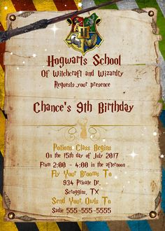 **READ BEFORE PURCHASING TO PREVENT DELAY IN YOUR ORDER** Harry P, Hog warts, downloadable printable invitation Size: 5x7 How it works: 1. Select your favorite design and purchase via PayPal. 2. Once you have purchased your invitation please write in NOTE TO SELLER SECTION OR ETSY
