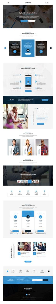 AppRock is Clean and professional #PSD Template for business and #financial services #website. Download Now!