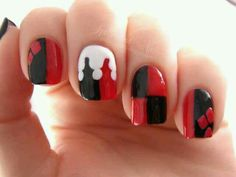 Harely quinn nails ♡