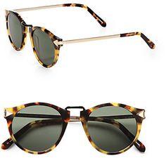 788d746541ecc Karen Walker Helter Skelter Round Sunglasses Crazy Tortoise on  shopstyle.com Karen Walker