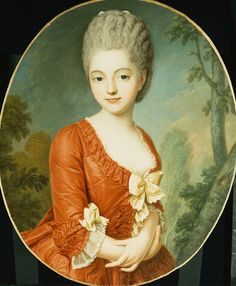 Portrait of a Young Lady attributed to Antoine Vestier
