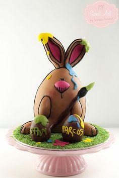 EggSpress Yourself Cake - Cake by My Sweet Art