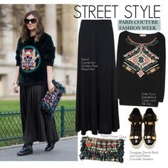 Street Style-Paris Couture Fashion Week by kusja on Polyvore featuring Emilio Pucci, French Connection, Giuseppe Zanotti, Chanel, StreetStyle, fashionWeek and parisfashionweek