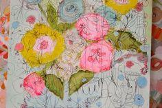 Pam Garison paintings in progress