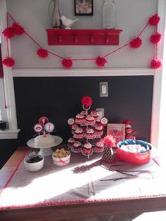 sock monkey theme..cute idea for future birthday parties