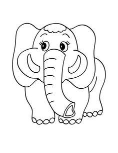 elephant coloring book pages Kids Stuff Pinterest Colour