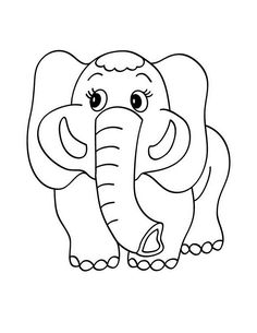 elephant coloring pages for kids preschool crafts - Cute Baby Elephant Coloring Pages