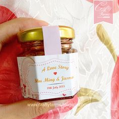 Personalized Honey Jar Wedding Favour With Labels Cards Handmade Invitations
