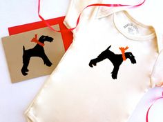 Wire Terrier Baby Onesie Fox Dog Baby Bodysuit Organic ECO Friendly Infant Clothes % to ANIMAL RESCUE Creeper Romper New Mom Gift Wrapped Red 3-6 mo 6-12 mo