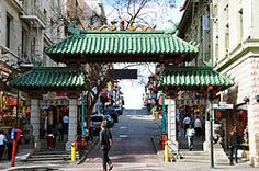 The Gateway Arch (Dragon Gate) on Grant Avenue at Bush Street in Chinatown