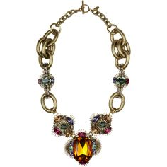 Anton Heunis Art Deco Flower Crystal Encrusted Necklace (£205) ❤ liked on Polyvore featuring jewelry, necklaces, accessories, colares, collane, women, antique art deco jewelry, flower necklace, swarovski crystal jewelry and vintage necklace