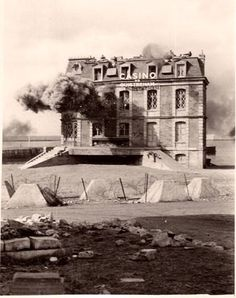 Normandy 1944. Casino at Ouistreham under attack. Pin by Paolo Marzioli
