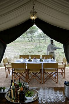 canvas tent dining - Google Search