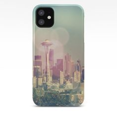 Dreamy Seattle Skyline iPhone Case by - click/tap to buy Iphone 9, Iphone 8 Plus, Unique Iphone Cases, Case 39, Galaxy S8, Seattle Skyline, Digital, Photography, Style