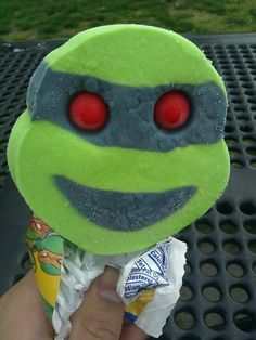Character ice cream bars with bubble gum eyes! Loved these!!