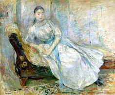 Madame Albine Sermicoli in the Studio by Berthe Morisot