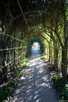 The charming archway at Tryon Palace and Gardens in New Bern, North Carolina.