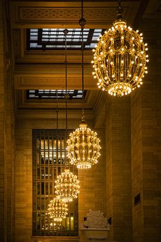 Chandeliers in Grand Central Terminal