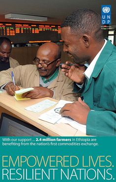 With UNDP support, 2.4 million farmers in Ethiopia are benefiting from the country's first commodities exchange.   www.undp.org  #globaldev  Photo: UNDP