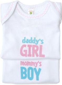 Twin Boy-Girl Onesies Set - Mommy's Boy / Daddy's Girl