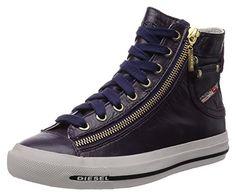 DIESEL Sneakers MAGNETE EXPO-ZIP Gr.: EUR 39 / USA 8.5 Damen Designer Schuhe Woman Shoes Lila UVP 180€ Y01067 PRO080 T5153 - Sneakers für frauen (*Partner-Link)