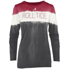 Royce  Roll Tide Tie-Dye Shirt ($48) ❤ liked on Polyvore featuring tops, long sleeve tie dye shirts, long-sleeve shirt, tie die shirts, rock shirts and tie-dye shirts
