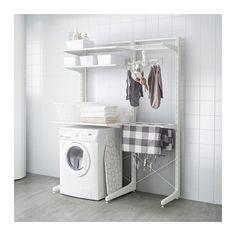 IKEAのALGOT(アルゴート)はベースとなる支柱に棚やバスケット、フック、ハンガーなどのパーツを自由に組み合わせられる収納棚システム。リビングはもちろん、キッチン、仕事部屋、玄関、ガレージなど様々な空間で活用できる人気のアイテムです。