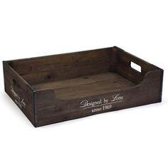 Design by Lotte Wooden Bed Hundeseng Crate And Barrel, Decoration, Crates, Relax, Basket, Design, Products, Beige, Wood Dog