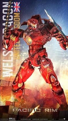 Pacific Rim - Jeager: Welsh Dragon by Lugnut1995.deviantart.com on @DeviantArt