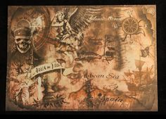 Pirates of the Caribbean Treasure Map