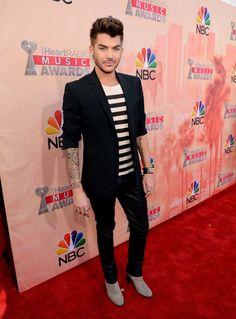 Pin for Later: Les Stars du Monde de la Musique se Sont Toutes Rendues aux iHeartRadio Awards Adam Lambert