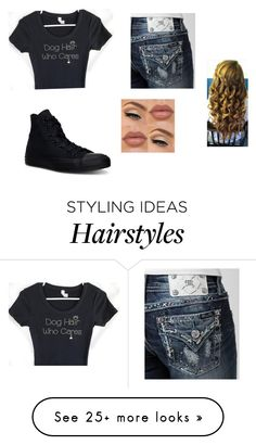 """""""Dog hair who cares"""" by kystewart on Polyvore featuring Miss Me and Converse"""