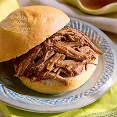 20 Quick-Fix Slow-Cooker Suppers | French Dip Sandwiches | SouthernLiving.com