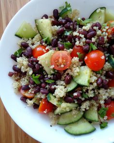 Quinoa & Adzuki bean salad