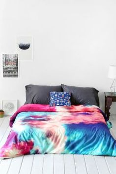 Caleb Troy For DENY Yin-Yang Painted Cloud Duvet Cover
