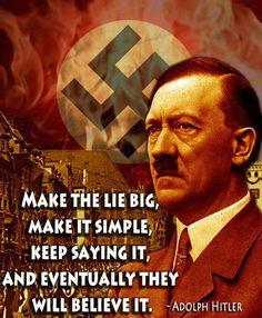 Image result for hitler trump and lying