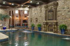 View this luxury home located at 9553 Bella Terra Dr Fort Worth, Texas, United States. Sotheby's International Realty gives you detailed information on real estate listings in Fort Worth, Texas, United States. Luxury Swimming Pools, Indoor Swimming Pools, Luxury Life, Luxury Homes, Modern Castle, Pool Water Features, Mega Mansions, Tuscan House, Home Room Design