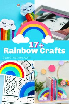 17 Rainbow Crafts To Make These are colorful, fun and easy crafts to make. Craft projects for adults, teen crafts and crafts for kids. See all these plus a few unicorn rainbow crafts. Such cute ideas to make! Easy Crafts To Make, How To Make Ornaments, Teen Crafts, Crafts For Teens, Rainbow Project, Pen Toppers, Craft Projects For Adults, Pinterest Crafts, Rainbow Crafts