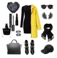 """""""Not All black"""" by takako-yacima on Polyvore featuring T By Alexander Wang, Yves Saint Laurent, ZAC Zac Posen, Christian Dior, Vianel, Lacoste, Smashbox, Chanel, Narciso Rodriguez and Eva Fehren"""