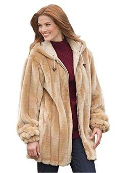 Women's Plus Size Jacket, Hooded In F…