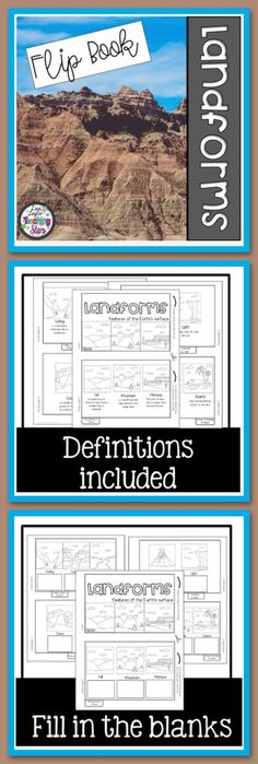 Landforms Flipbook i