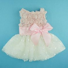 Polka Dot and Fluff's dresses for when mommy and daddy get married!!  FurBaby Pink Rose Lace Pet Dog Wedding Dress Bride Formal Clothes Tutu Vest, Medium, http://www.amazon.com/dp/B00LARTLUW/ref=cm_sw_r_pi_awdm_nv0Qub1WWP5KJ