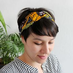 DIY Wax Turban Headband with Elastic Hair Turban, Turban Headbands, Diy Headband, Headband Hairstyles, Diy Hairstyles, Sewing Headbands, Elastic Headbands, Bandeaus, Diy Wax