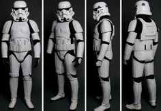 Stormtrooper Motorcycle Suit by UDReplicas - Front, Side, Back and 45 Degrees View via CoolPile.com