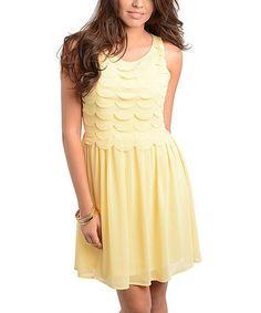 Love this Yellow Tier Sleeveless Dress on #zulily! #zulilyfinds