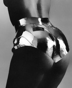 Thierry Mugler...iconic look popularised by the supermidels of the 90s paricualy in george michaels film clip f'reedom'.
