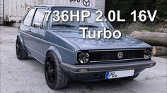 VW Golf MK1 736HP 2.0L 16V Turbo street race, via YouTube.