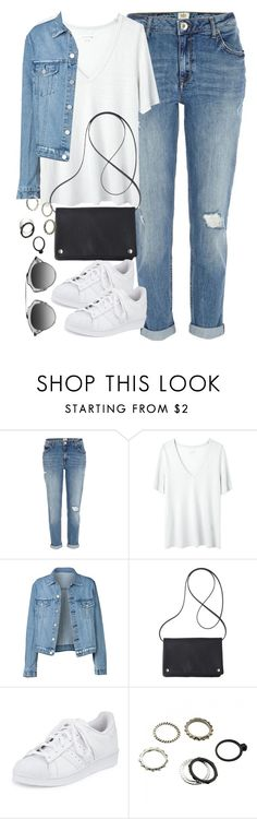 """""""Untitled #1107"""" by megan-trinite ❤ liked on Polyvore featuring River Island, Étoile Isabel Marant, Mossimo and adidas"""